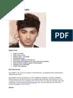 Zayn Malik Biography