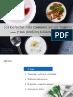 Defectos en Yogures - Tecnolacteos 2014