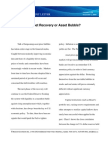 Volume 1 13 Asset Recovery or Asset Bubble