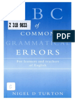 ABC of Common Grammatical Errors