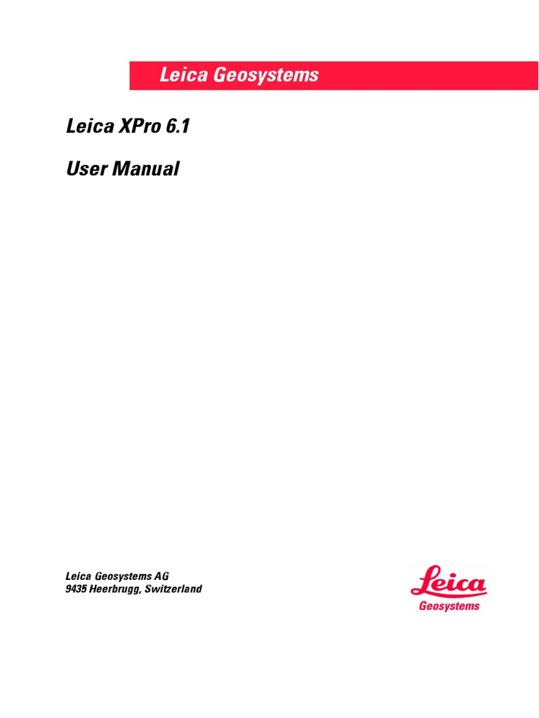 Leica XPro 6.1 Manual | Installation (Computer Programs) | Personal  Computers