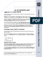 Table of Contents and Figures