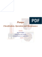 Pumps(Classification, Operation and Maintenance)