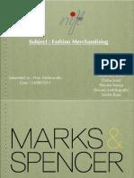 Merchandising Marks & spencers india