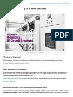 Methods of Mounting LV Circuit Breakers