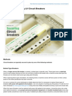 Methods of Securing LV Circuit Breakers