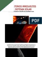 Misterios Irresueltos Sistema Solar