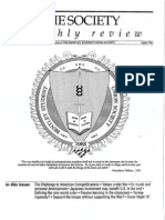 Bentley College (Bentley University) Society Monthly Review Premier Issue