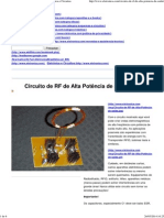 Circuito de RF de Alta Potência de Saída - Eletrônica e Circuitos