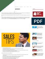 Sales Tips for Startup Entrepreneurs