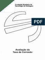 5-Avaliaçao Taxa de Corrosao
