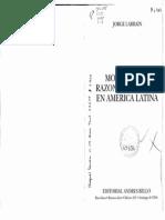 3. Larrain - Modernidad, Razon e Identidad en America Latina Cap 4 y 5