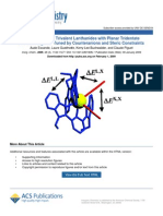 Effect of Counterions Lanthanide Terpyridine Ln Anion