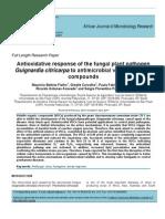 Antioxidative response of the fungal plant pathogen Guignardia citricarpa to antimicrobial volatile organic compounds