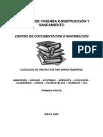 Catalogo i de Proyectos de Desarrollo Urbano