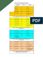 Online Algebra I Course Calendar
