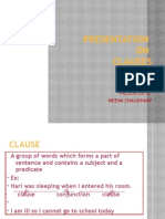 Presentation of Clause