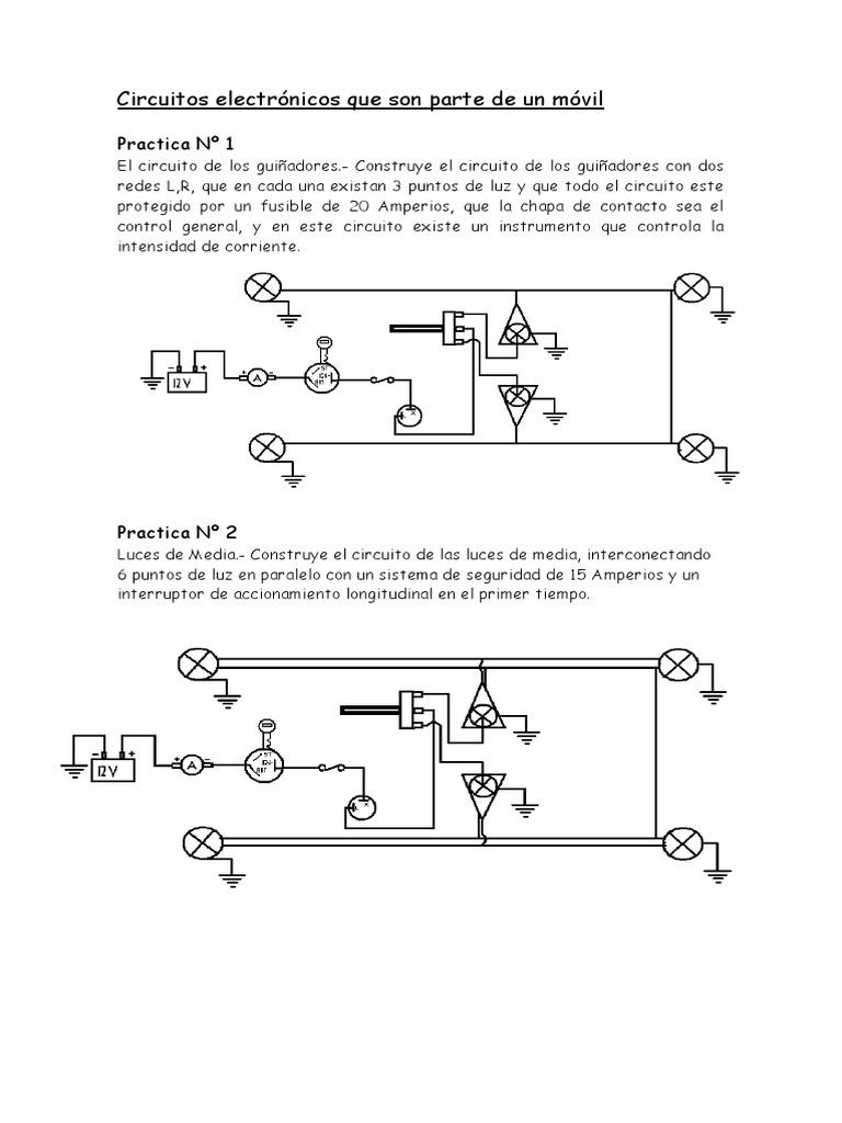 Circuito General : Circuitos electrónicos que son parte de un móvil