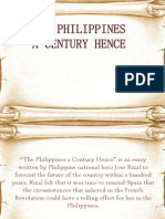 philippines a century hence