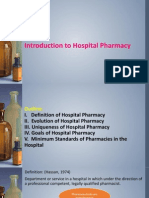 History of Hospital Pharmacy