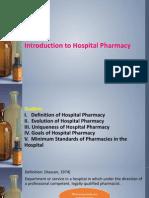 History of Hospital Pharmacy