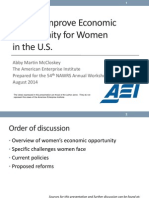 How to improve economic opportunity for women in the US