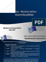 Alcohol Etilico y Biocombustible