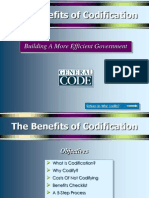 Benefits of Codification