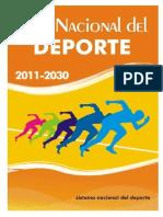 Plan Nacional Deporte 2011 2030