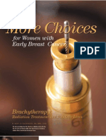 Breast Cancer Brachytherapy - More Choices