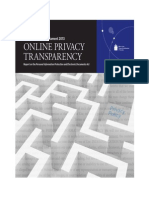 Online Privacy Transparency Annual Report 2013