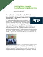 10-08-14 cuidadania-express Recibe nosocomio de Puerto Escondido denominación como hospital amigo de los ninos y niñas