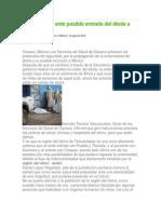 12-08-14 cuidadania-express Alerta la SSO ante posible entrada del ébola a México