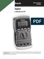 Manual Multimetro Radioshack 46 Range Con Interfaz de Pc