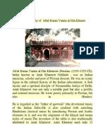 The biography of Amir Khusru