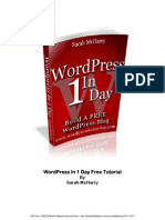 Word Press in One Day Tutorial