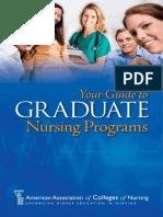 American Association of Colleges of Nursing Graduate Students Brochure