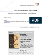 Recognising non ­formal and in formal learning: an open challenge