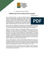 140821 COMUNICADO FINAL_RNDDHM exige liberación de Nestora Salgado