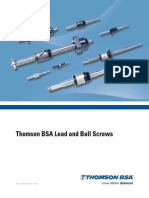 Thomson BSA Lead and Ball Screws Cten