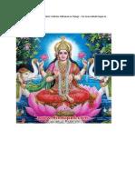 Varalakshmi Vratham Telugu