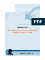 Max Nordau - Le Menzogne Convenzionali Della Nostra Civiltà (Progetto Manuzio, Ed. Orig. 1914)