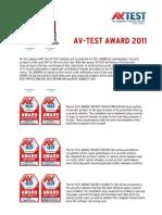 Avtest Award 2011 English