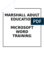 Microsoft Word Training Manual
