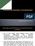 Proceso de Familia y Constitución