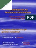 Variabilidad de Los Fenomenos Atmosfericos
