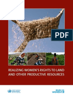 Realizing Women's Rights to Land