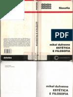 69882409 Dufrenne Estetica e Filosofia