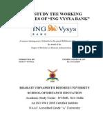 To study the policies of ING VYSYA BANK