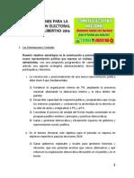 5. Orientaciones Para La Participacion Electoral de Tierra y Libertad 2014